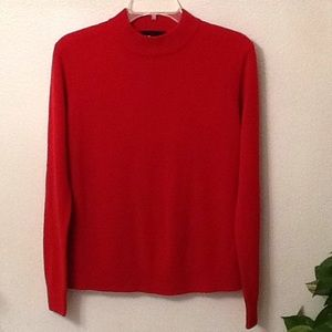 Sag Harbor Red Sweater, size M